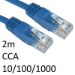 TARGET RJ45 (M) to RJ45 (M) 10/100/1000 Network 6 2m Blue OEM Moulded Boot CCA Economy Network Cable