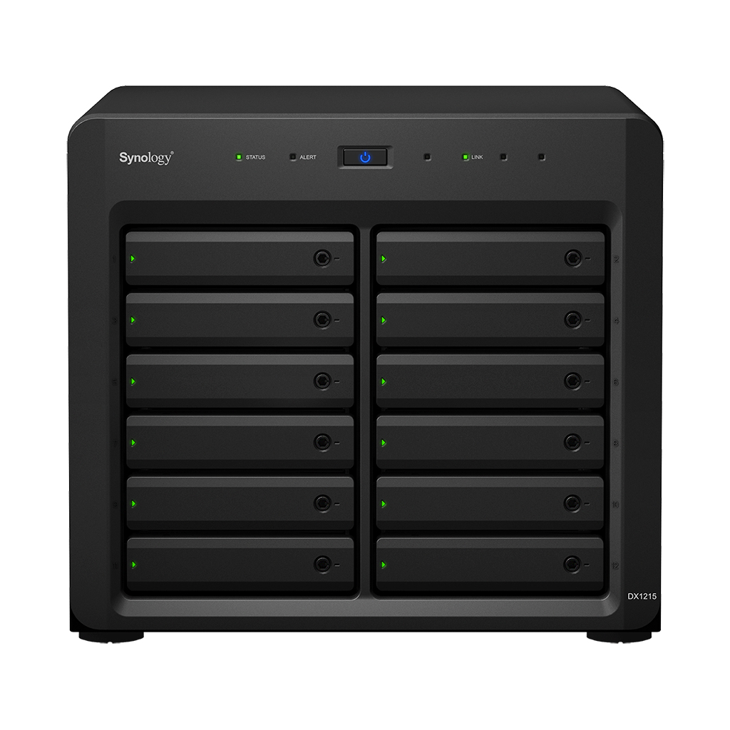 Synology DX1215 48000GB Compact Black disk array