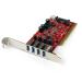 StarTech.com Tarjeta Adaptador PCI USB 3.0 SuperSpeed de 4 puertos con Conector LP4 SATA - Hub Concentrador Interno
