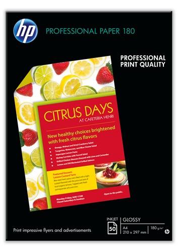 HP Professional Glossy Inkjet Paper-50 sht/A3/297 x 420 mm