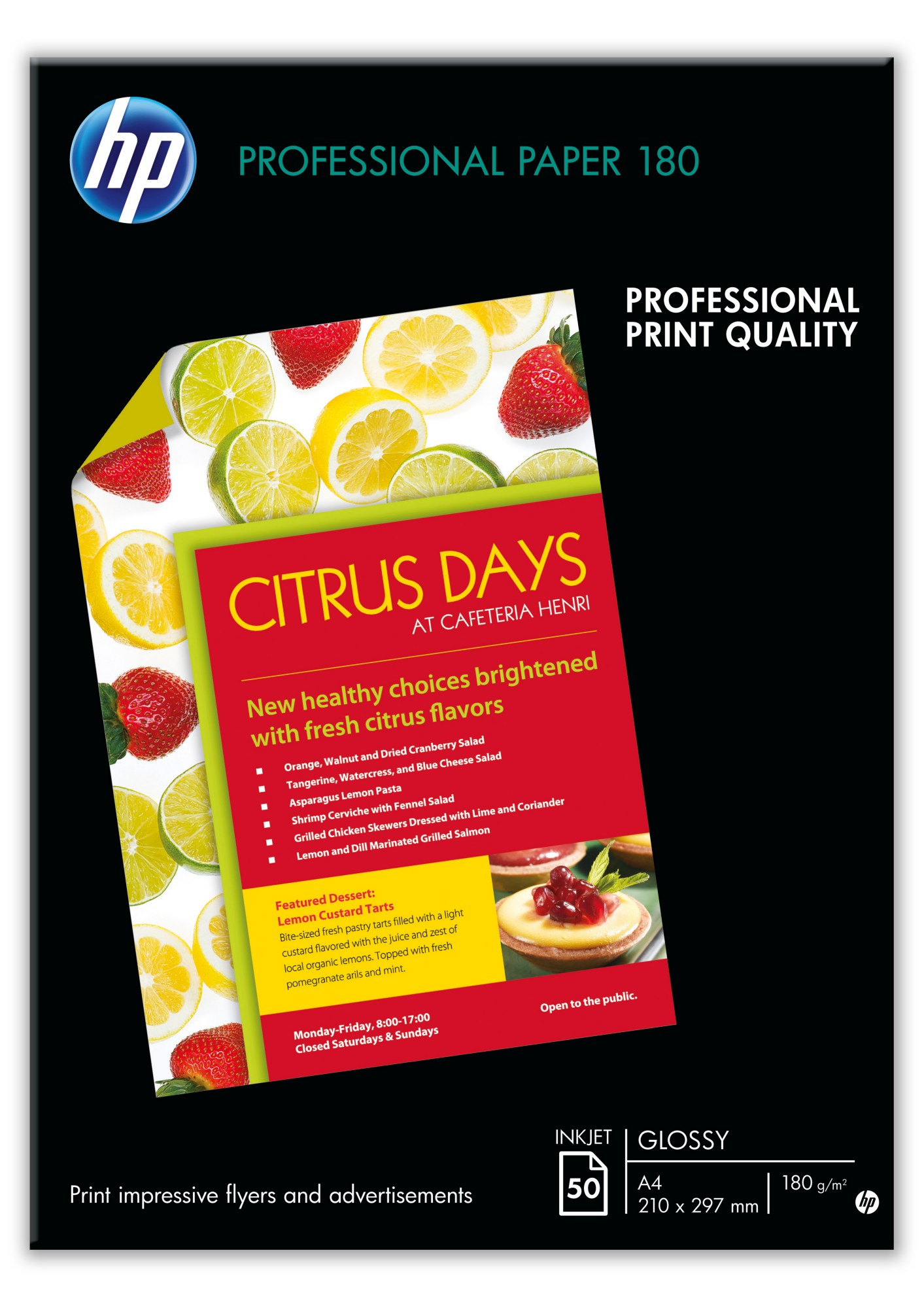 HP Professional Glossy Inkjet Paper-50 sht/A3/297 x 420 mm