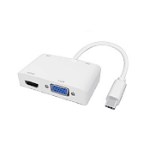 Dynamode C-TC-HDMI-VGA interface hub USB 3.2 Gen 1 (3.1 Gen 1) Type-C White