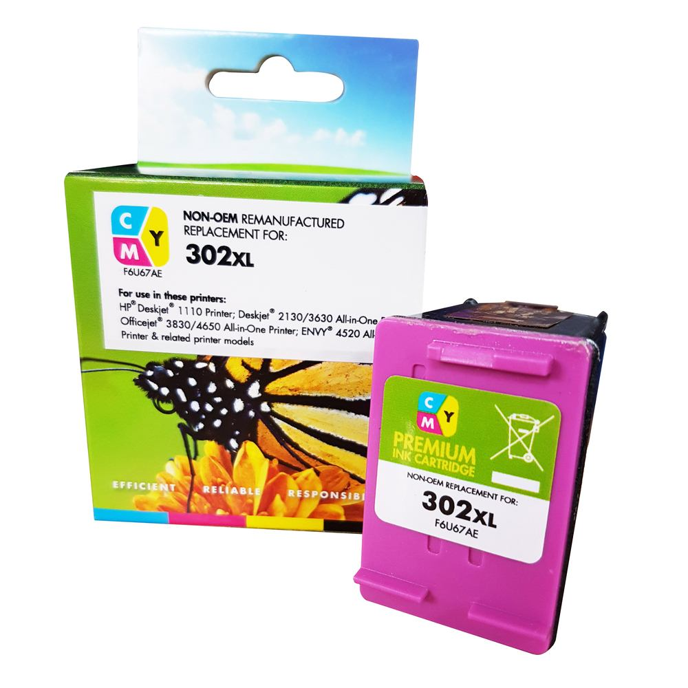 Remanufactured HP 302XL Colour Ink Cartridge