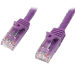 StarTech.com Cable de Red de 10m Púrpura Cat5e Ethernet RJ45 sin Enganches