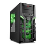 Sharkoon DG7000 Midi-Tower Black,Green computer case
