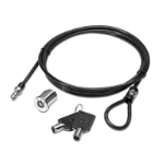 HP AU656AA cable lock Black, Metallic 1.85 m
