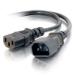 C2G 29964 0.3m C14 coupler C13 coupler Black power cable
