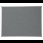Bi-Office Maya Grey Felt Noticeboard Aluminium Frame 120x120cm DD