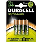 Duracell Rechargeable Plus AAA Nickel Metal Hydride 750mAh 1.2V rechargeable battery
