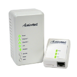 Actiontec PWR51WK01 500Mbit/s Ethernet LAN connection Wi-Fi White 1pcs PowerLine network adapter