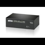 ATEN VS0102 2-Port VGA Splitter with Audio, up to 1920x1440, 450MHz Video Bandwidth'