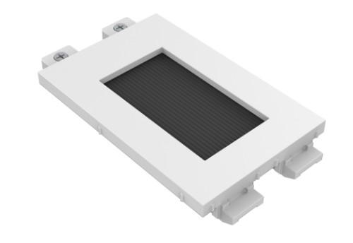 Vision Techconnect Modular AV Faceplate - LIFETIME WARRANTY - brush module - simple double-width module wit