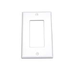 C2G Decorative Single Gang Wall Plate - White White