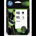 HP 95/98 ink cartridge 2 pc(s) Original Black, Cyan, Magenta, Yellow
