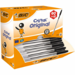 BIC Cristal Black Stick ballpoint pen Medium 100 pc(s)