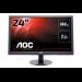 "AOC Gaming G2460FQ pantalla para PC 61 cm (24"") 1920 x 1080 Pixeles Full HD LED Plana Mate Negro"