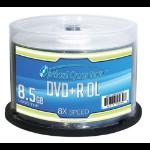 Vinpower Digital 50pcs, DVD+R DL, 8X, 8.5GB 8.5GB DVD+R DL 50pcs