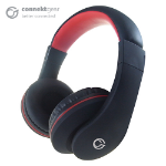 CONNEkT Gear HP531 Stereo Mobile On-Ear Headset with In-Line Mic and Controller - Black/Red