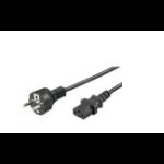 Microconnect PE020418 power cable Black 1.8 m CEE7/7 C13 coupler