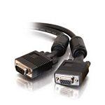 C2G Monitor HD15 M/F cable VGA cable 2 m VGA (D-Sub) Black