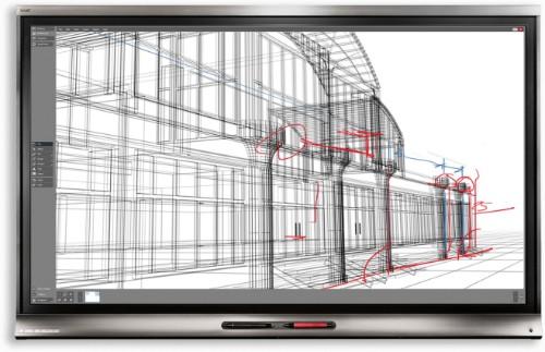 "Smart Board 6065 Pro touch screen monitor 163.8 cm (64.5"") 3840 x 2160 pixels Black Multi-touch Multi-user"