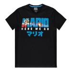 Nintendo Super Mario Bros. Fire Mario T-Shirt, Male, Extra Large, Black (TS314624NTN-XL)