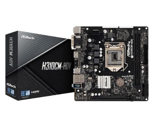 Asrock H310CM-HDV LGA 1151 (Socket H4) micro ATX Intel® H310