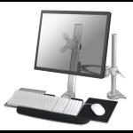 "Newstar FPMA-D1020KEYB 24"" Silver flat panel desk mount"