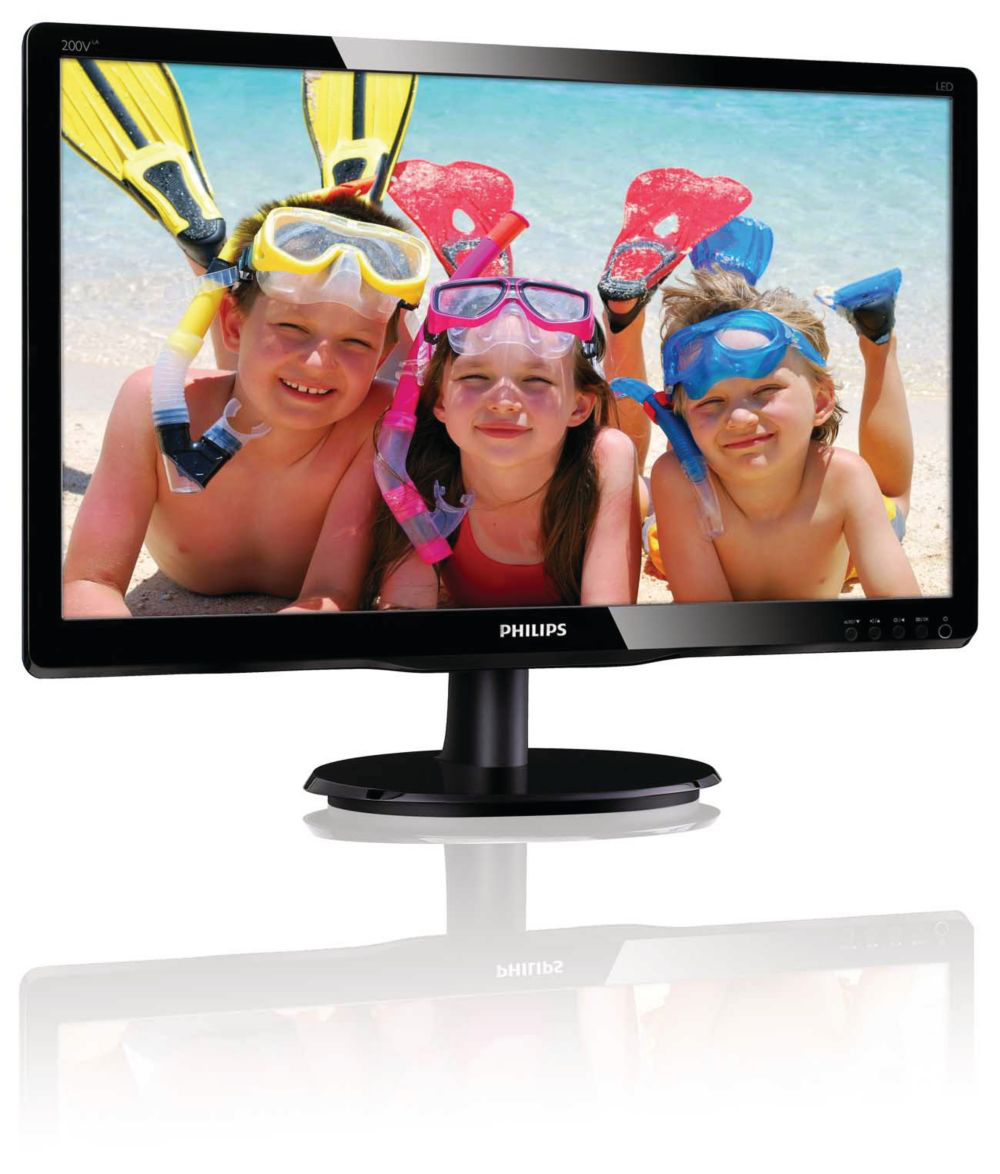Philips LCD monitor with LED backlight