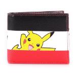 Pokémon Pikachu Striped Tri-colour All-Over Print Bi-fold Wallet, Male, Multi-colour (MW574784POK)
