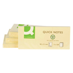 Q-CONNECT Q-CONNECT STICKY NTES YLW 38X51 PK12