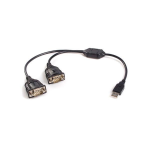 StarTech.com 2 Port USB to RS232 Serial DB9 Adapter Cable