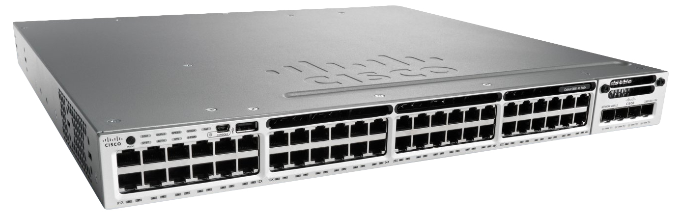 Cisco Catalyst WS-C3850-48T-S switch Gestionado Negro, Gris