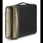 "HP 3XD35AA notebook case 39.6 cm (15.6"") Sleeve case Black, Gold"