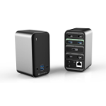 eSTUFF USB-C Pro Dual USB-C Dock USB 3.2 Gen 1 (3.1 Gen 1) Type-C 5000 Mbit/s Aluminium, Black