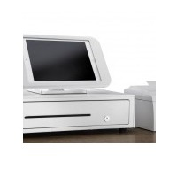 CB-2002 Ultra White Cash Drawer, 8 flat note sections, 8 coin slots and cheque/large slot