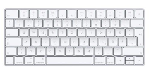 Apple Magic Keyboard Bluetooth QWERTZ German Silver, White