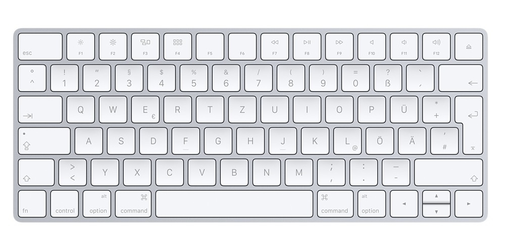 Apple Magic Keyboard Bluetooth QWERTZ German Silver, White