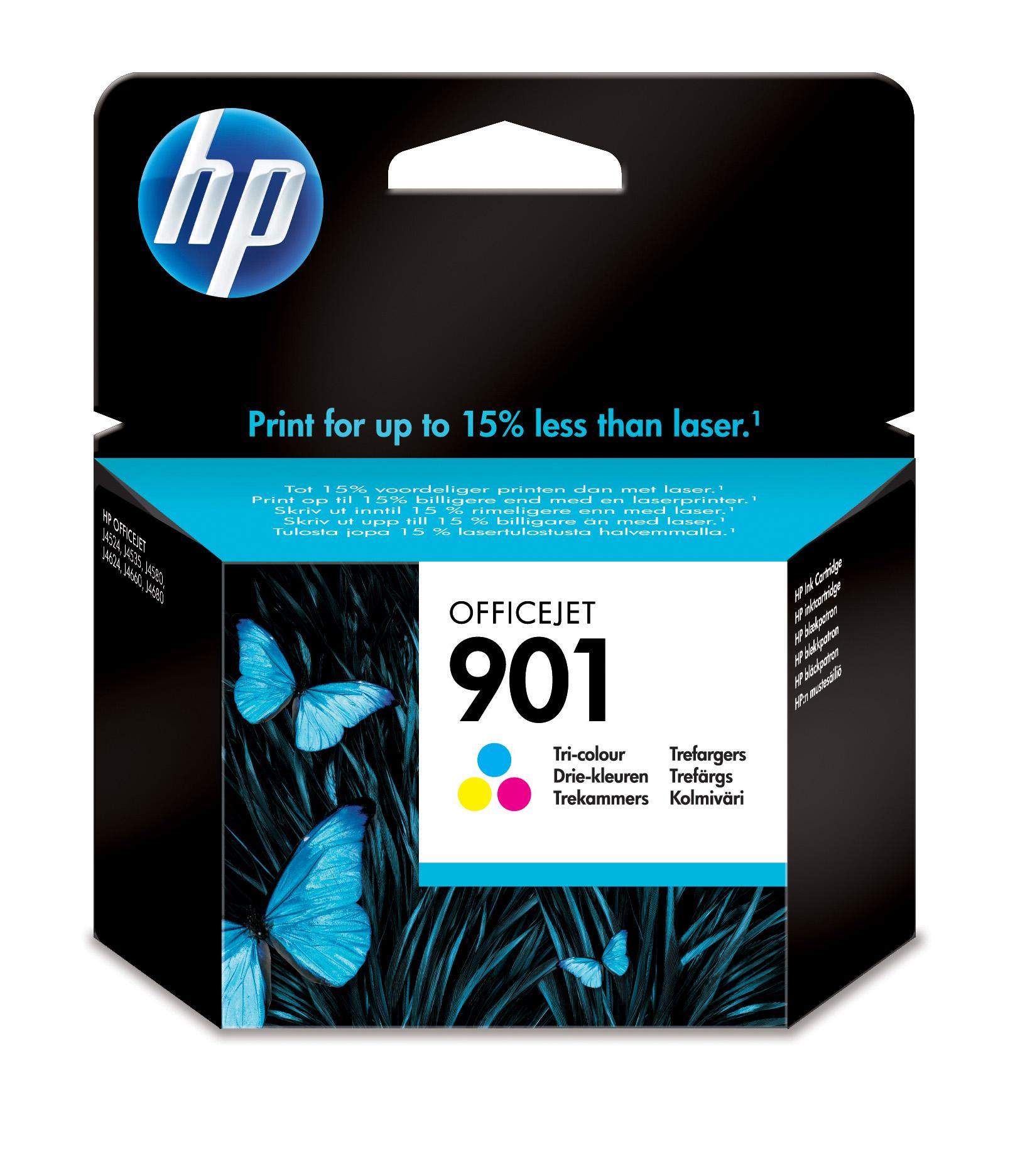 HP 901 Tri-color Officejet Ink Cartridge Original Cian, Magenta, Amarillo 1 pieza(s)