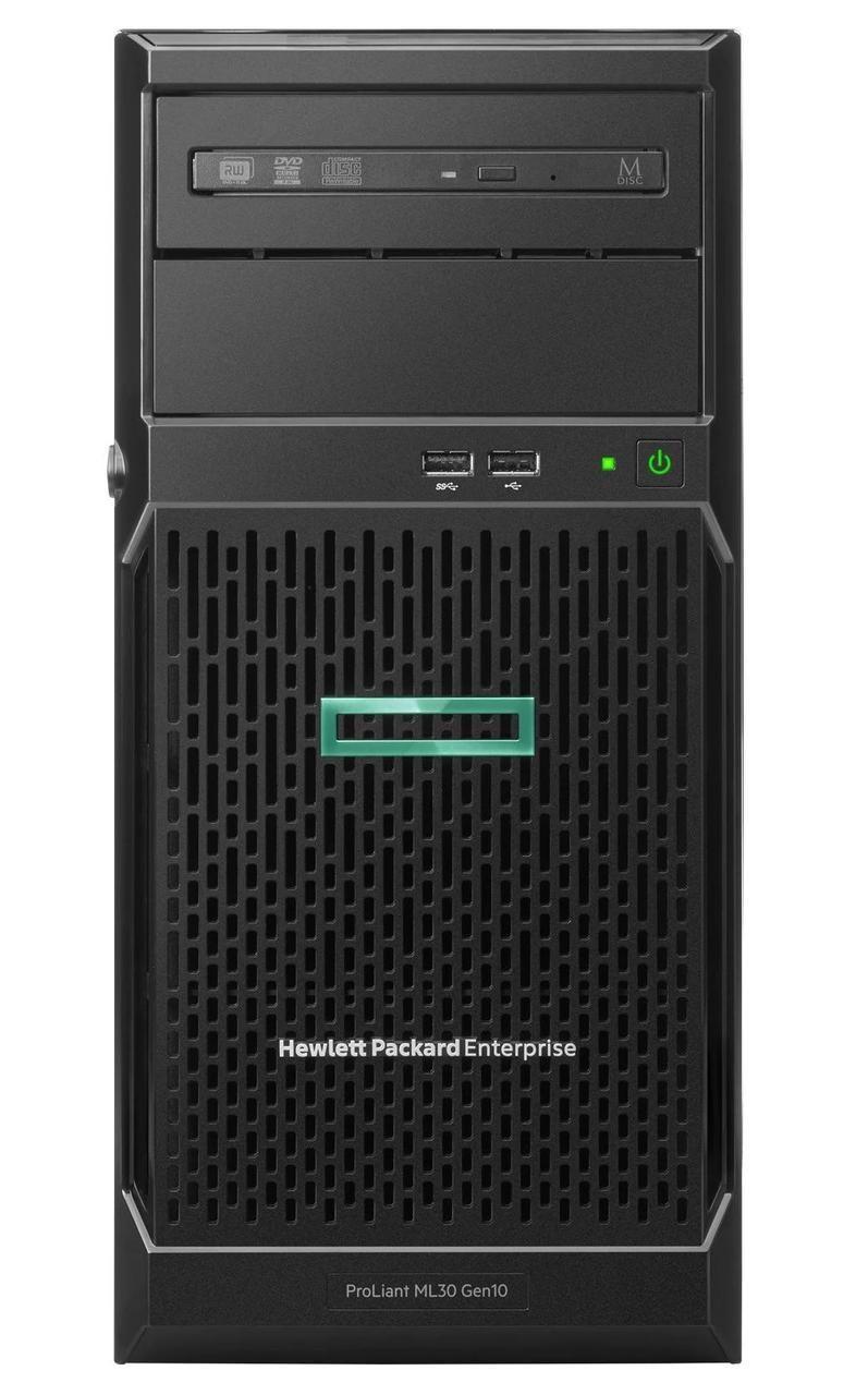 Hewlett Packard Enterprise ProLiant ML30 Gen10 (ENTML30-004) + Windows Server 2019 Essentials servidor Intel Xeon E 3,4 GHz 8 GB DDR4-SDRAM 24 TB Torre (4U) 350 W