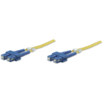 Intellinet Fibre Optic Patch Cable, Duplex, Single-Mode, SC/SC, 9/125 µm, OS2, 3m, LSZH, Yellow