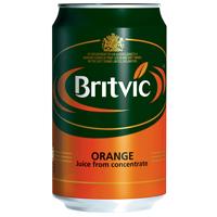Britvic ORANGE JUICE CANS 330ML  PK24