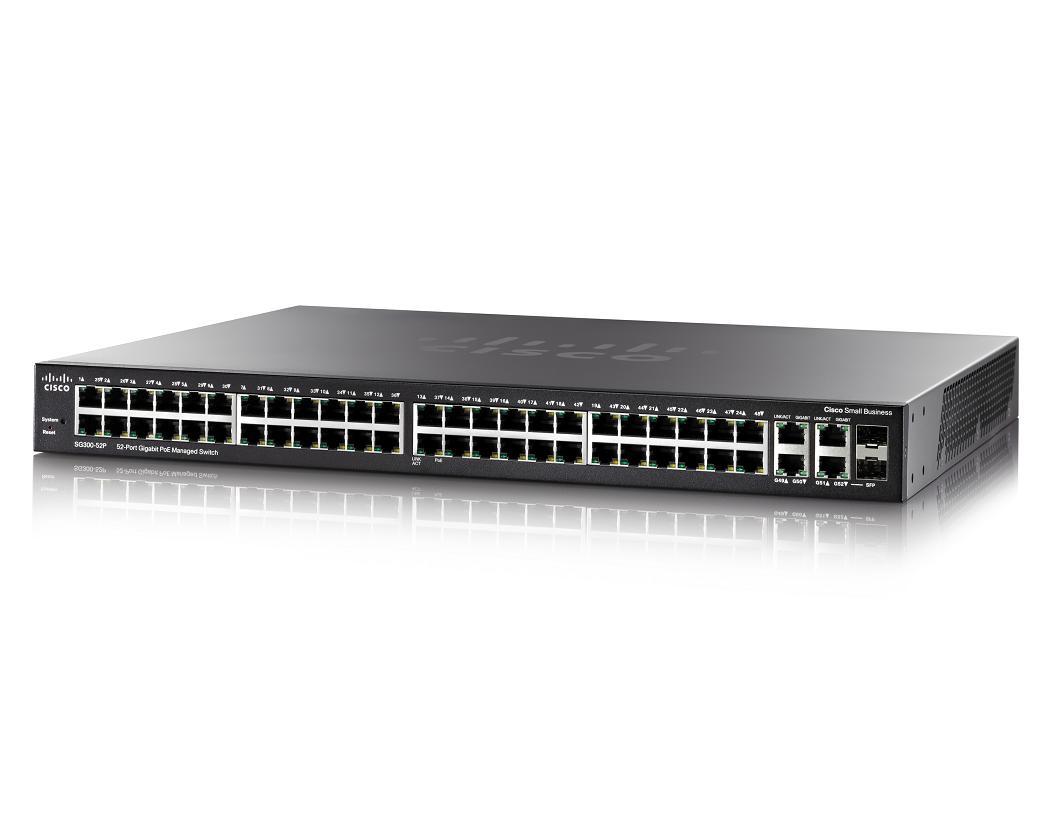 Cisco SG300-52P Managed L3 Zwart Power over Ethernet (PoE)