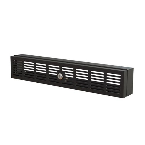 """StarTech.com 2U Rack Mount Security Cover - Hinged Locking Rack Panel/ Cage/Door for Physical Security/ Access Control of 19"""" Server Rack & Network Cabinet - Assembled w/Mounting Hardware"""