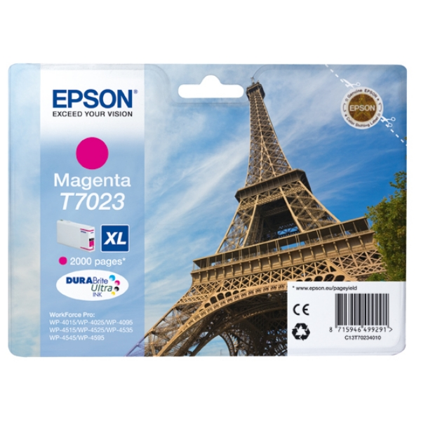 Epson C13T70234010 (T7023) Ink cartridge magenta, 2K pages, 21ml