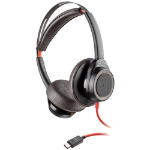 Plantronics Blackwire 7225 headset Head-band Binaural Black,Red