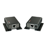 Lindy 42700 AV transmitter & receiver Black AV extender