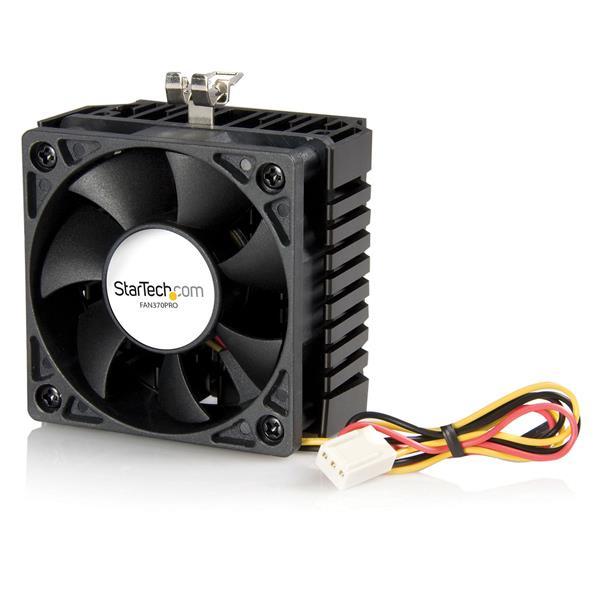 StarTech.com Ventilador/Enfriador para CPU Socket 7/370 de 65x60x45mm c/ Disipador de Calor y Conector TX3