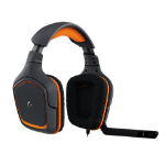 Logitech G231 PRODIGY Binaural Head-band Black,Orange