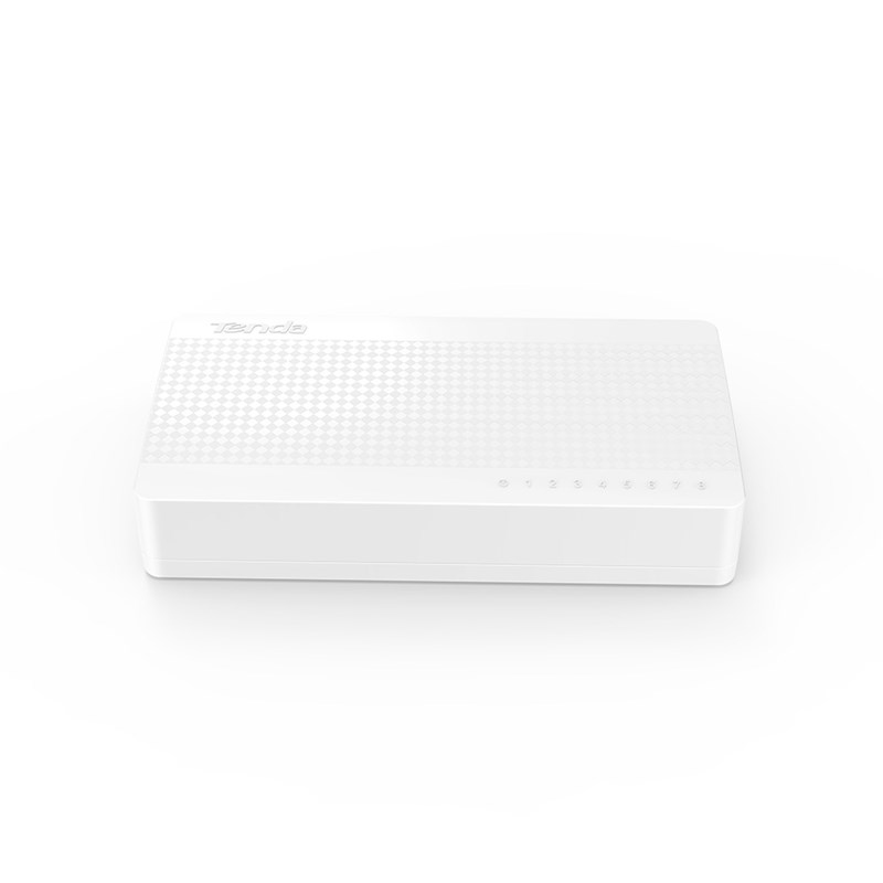 Tenda S108V8 Unmanaged Fast Ethernet (10/100) White network switch